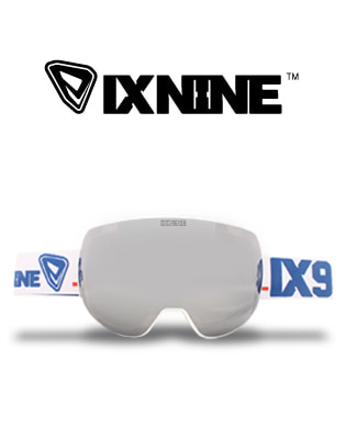 IXNUNE_IX4 Gun White  Silver Metalized 스노우보드용 고글