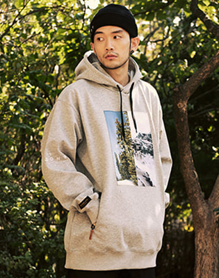 17/18 HOLIDAY ANOTHER WATERPROOF HOODIE_MELANGE / 홀리데이 언아더 방수후디 멜란지