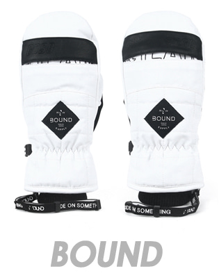 1718 BOUND GLAM MITT GLOVE_WHITE LTD