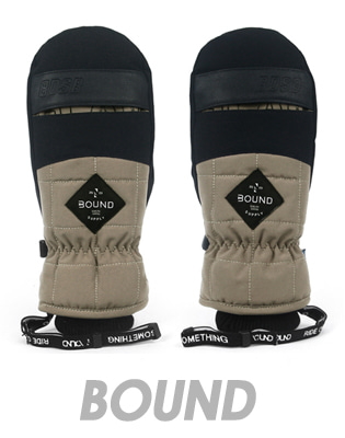 1718 BOUND GLAM MITT GLOVE_DARKBEIGE
