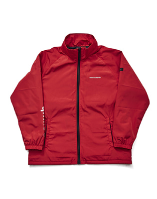 큐마일 SLEEVE BIG  LOGO JACKET 보드복자켓 RED