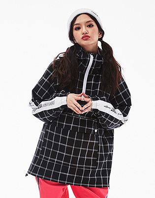 1819 BSRABBIT POISE ANORACK JACKET BLACK CHECK