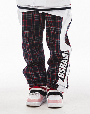 1819 BSRAWF WATERPROOF TRACK PANTS CHECK NAVY