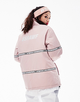1819 BSRABBIT TIDY HN STADIUM JACKET INDYPINK