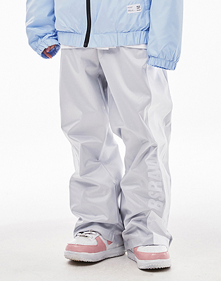 1819 BSRABBIT BSRAWF WATERPROOF TRACK PANTS SILVER