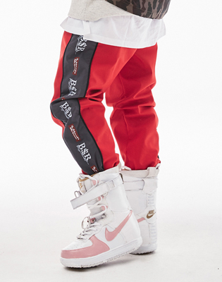 1819 BSRABBIT BSR WATERPROOF JOGGER PANTS RED