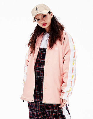 1819 BSRABBIT BSR COACH JACKET INDY PINK
