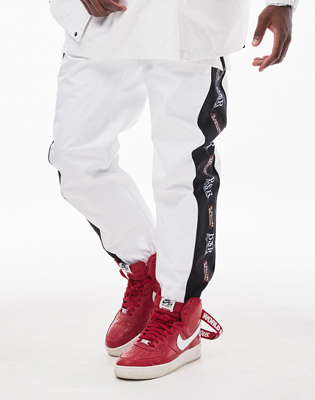 1819 BSRABBIT BSR WATERPROOF JOGGER PANTS WHITE