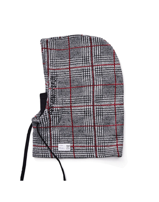 1819 BSR ALWAYSFUN HOODWARMER RED CHECK BLACK