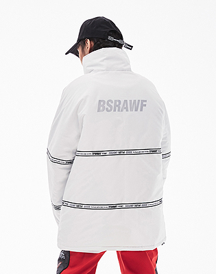 1819 BSRABBIT TIDY HN STADIUM JACKET WHITE