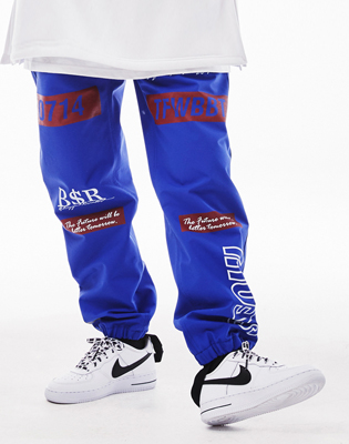 1819 BSRABBIT TFWBBT WATERPROOF JOGGER PANTS BLUE