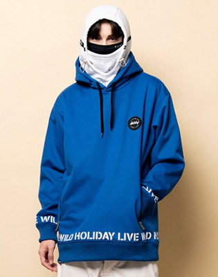 1819 홀리데이 방수후드 hustler waterproofhood blue