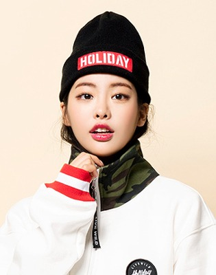 1819 홀리데이 팀 비니 holiday team beanie black