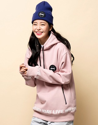 1819 홀리데이 방수후드 hustler waterproofhood pink