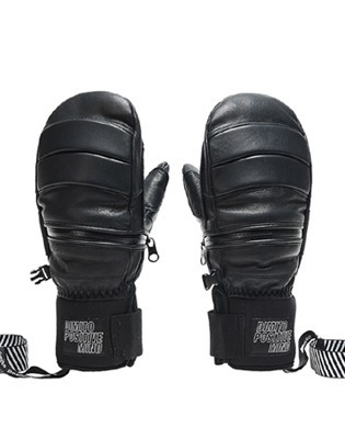 디미토 1819 DIMITO LEATHER ZIP MITTEN BLACK 보드장갑