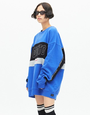 1819 DIMITO LINE PANELED SWEATSHIRTS_ROYAL BLUE