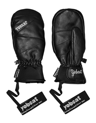 1819 YOBEAT UPPER LEATHER GLOVES 요비트 BLACK