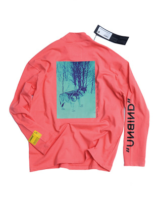 1819 언바인드 롱 슬리브 티셔츠 UNBIND NM-1 Long sleeve Shirts Coral pink