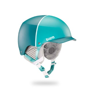 Bern Muse Asian Fit Satin Teal Hatstyle 번 뮤즈 헬멧