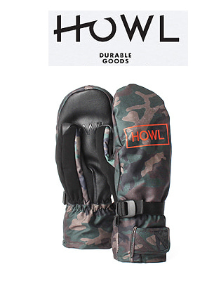 HOWL 18/19  FAIRBANKS MITT CAMO 하울 보드장갑