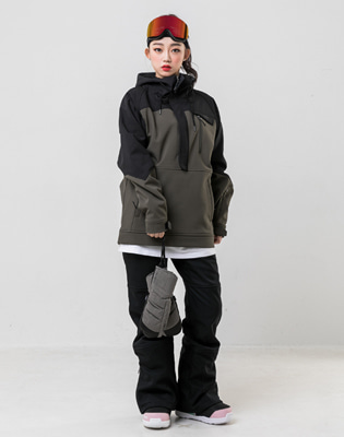 19/20 INSTAY WITH ANORAK JACKET OLIVE 남자여자공용 스노우보드복 아노락자켓