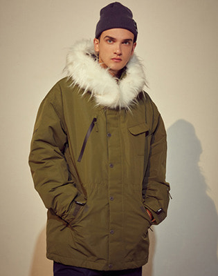 1920 홀리데이 VOYAGE padded jacket olive green