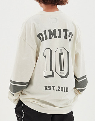 1920 DIMITO 10th LONG SLEEVE IVORY 스노우보드복 맨투맨