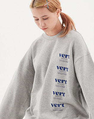 1920 VERT SEOUL SWEATSHIRTS HEATHER GREY 스노우보드복 맨투맨