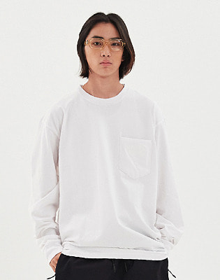 1920 DIMITO PSTVM POCKET LONG SLEEVE WHITE 스노우보드복 맨투맨