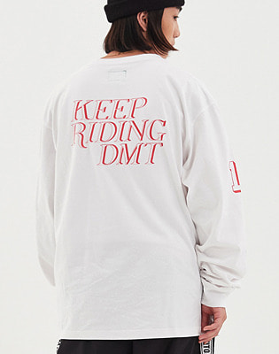 1920 DIMITO KRD LONG SLEEVE WHITE 스노우보드복 맨투맨