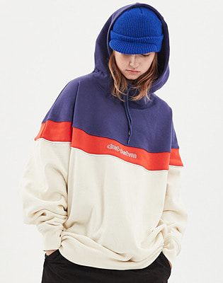 1920 DIMITO CIRCLE COLOR BLOCK HOODIE IVORY 스노우보드복 후드