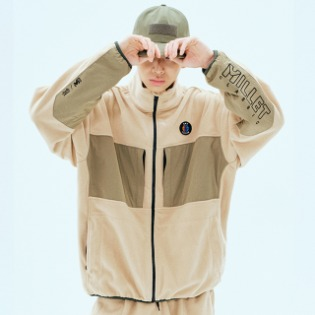 1920 DIMITO DM FLEECE ZIP UP JACKET BEIGE 디미토X밀레
