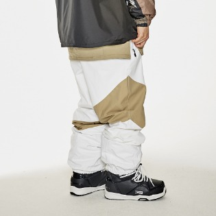1920 비에스래빗 DIAGONAL BOX JOGGER PANTS WHITE