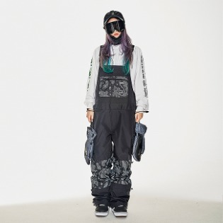 1920 비에스래빗 BSR INCREDIBLE TRANSFORM BIB PANTS PAISLEY BLACK