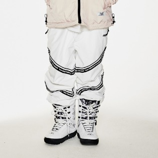 1920 비에스래빗 BSR TRANSFORM BOX MULTI JOGGER PANTS LINE WHITE