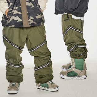 1920 비에스래빗 BSR TRANSFORM BOX MULTI JOGGER PANTS LINE KHAKI