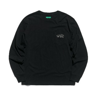 1920 DIMITO PSTVM POCKET LONG SLEEVE BLACK 스노우보드복 맨투맨