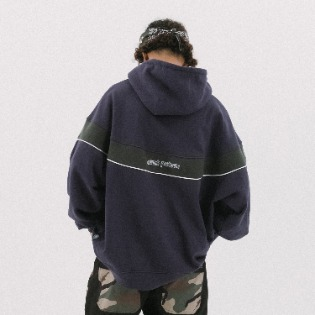 1920 DIMITO CIRCLE COLOR BLOCK HOODIE NAVY 스노우보드복 후드