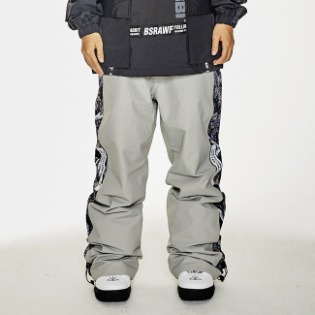 1920 비에스래빗 BSR SHOWY LINE TRACK PANTS GRAY