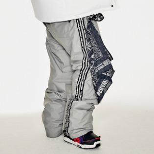 1920 비에스래빗 DOUBLE LINE TAPE TRACK PANTS DARK GRAY