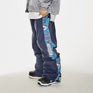 1920 비에스래빗 BSR SHOWY LINE TRACK PANTS NAVY