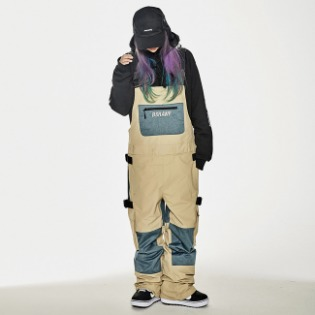 1920 비에스래빗 BSR INCREDIBLE CARGO BIB PANTS BEIGE