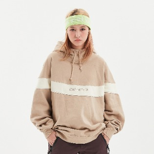 1920 DIMITO CIRCLE COLOR BLOCK HOODIE BEIGE 스노우보드복 후드