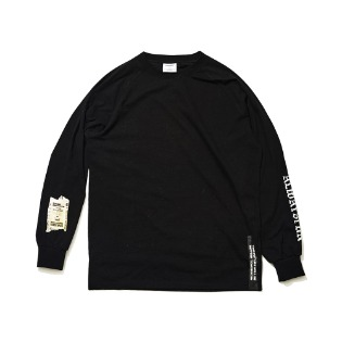 1920 비에스래빗 ALWAYSFUN LONG SLEEVE TEE BLACK