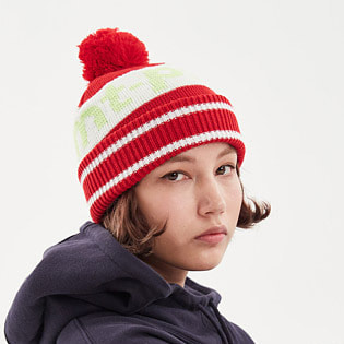 1920 DIMITO LINE BALL KNIT BEANIE RED 스노우보드복 니트비니