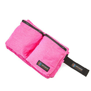 1920 DIMITO DOUBLE POCKET WAIST BAG PINK