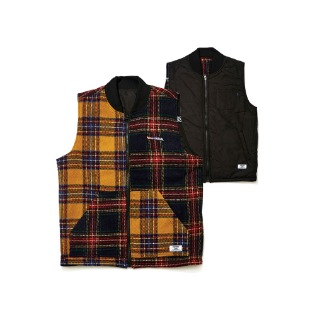 1920 비에스래빗 ULTIMATE REVERSIBLE VEST BLACK/MIX CHECK
