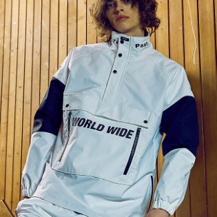 1920 비에스래빗 BSR WORLD WIDE ANORAK JACKET WHITE