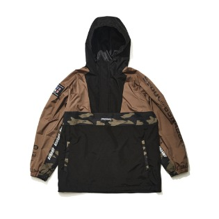 1920 비에스래빗 BSR RUN ANORAK KHAKI/BLACK