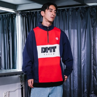 1819 디미토 DIMITO LINE HALF ZIP SWEAT TEE_NAVY